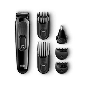All-in-One Beard Trimmer for Men by Braun, Ear and Nose Hair Clipper Attachment