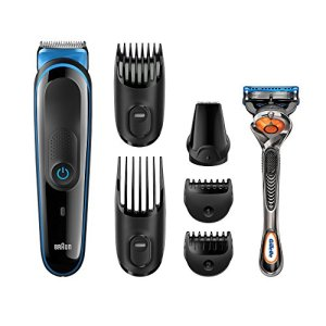 All-in-One Beard Trimmer for Men by Braun, 7-in-1 Precision