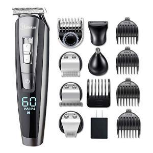 HATTEKER Beard Trimmer Kit For Men Cordless Mustache Trimmer
