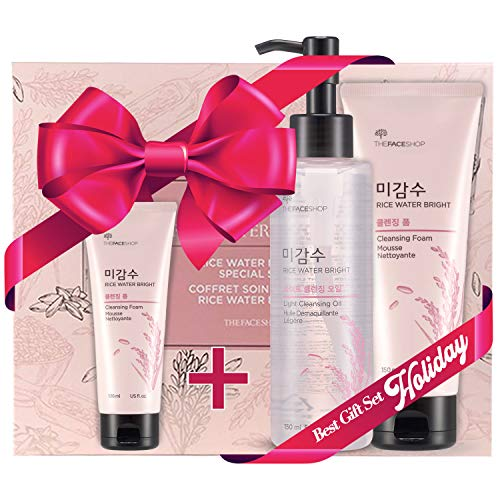 [THEFACESHOP] Rice Water Face Wash Set - Bright Foaming Facial Cleanser This Korean important skincare deep cleanser gently removes grime, extra oil and useless pores and skin cells to disclose a clear, contemporary face. The non-irritating method maintains a wholesome moisture stability, by no means stripping the pores and skin, whereas eliminating shiny, oily areas.