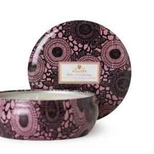 Voluspa Bella Sucre 3 Wick Candle in Decorative Tin