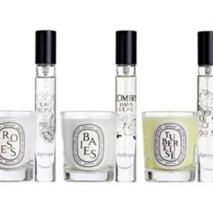Diptyque Set of Roses, Baies, and Tuberose Candle 35g each. Rose, Do Son