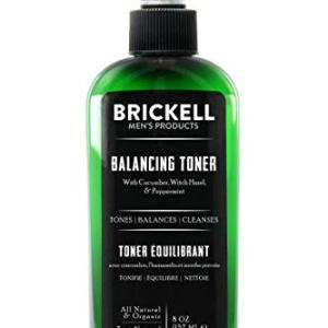 Brickell Men's Balancing Toner For Men, Natural and Organic Alcohol-Free Cucumber