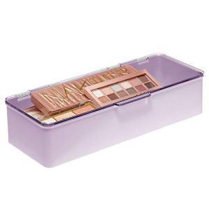 mDesign Makeup Storage Stackable Organizer Box for Bathroom Vanity