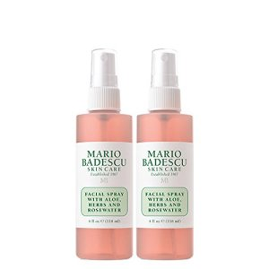 Mario Badescu Facial Spray with Aloe, Herbs & Rosewater, 4 Fl Oz (Pack of 2)