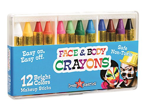 Dress Up America Face Paint Kit - Safe, Non-Toxic, Face and Body Paint