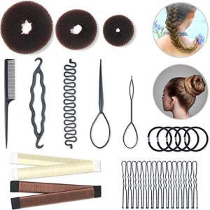 Hair Styling Set Hair Braid Tool 3 Pieces Donut Hair Bun Tool 2 Pieces French