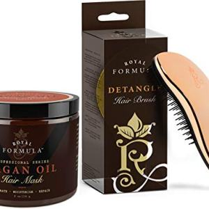 Argan Oil Hair Mask + Pro Detangling Hair Brush - Deep Conditioner Hair Treatment