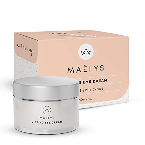 Lifting Eye Cream   Reduce Wrinkles, Puffiness and Under Eye Circles - for Men and Women by Maelys Cosmetics, 1 oz