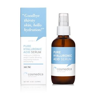 Cosmedica Hyaluronic Acid Serum for Skin - 4 Fl. Oz Hydrating Facial Moisturizer