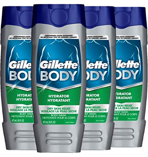 Gillette Body Hydrator Body Wash for Men, Dry Skin Relief, 16 Fluid Ounce