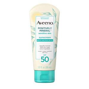 Aveeno Positively Mineral Sensitive Skin Daily Sunscreen Lotion