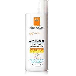 La Roche-Posay Anthelios Ultra Light Face Sunscreen Fluid Broad Spectrum SPF 60, Non Greasy, Lightweight, Non-Comedogenic, 1.75 Fl. Oz.