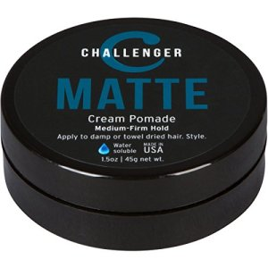 Matte Cream Pomade - Challenger 1.5oz Medium Firm Hold - Water Based