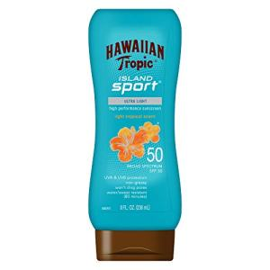Hawaiian Tropic Island Sport Sunscreen Lotion, Ultra Light, High Performance Protection, SPF 50, 8 Ounces