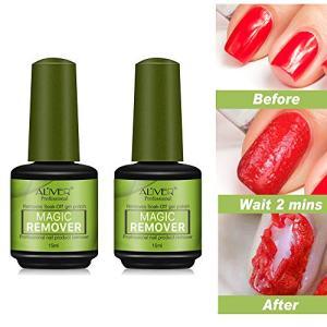 2pcs Magic Nail Polish Remover, Professional Removes Soak-Off Gel Polish