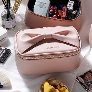 Rownyeon Makeup Bag for Women Girls Cute Portable Makeup Brushes Bag