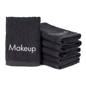 Arkwright Makeup Removal Towel, Pack of 6 Soft Cotton Towel (Black)