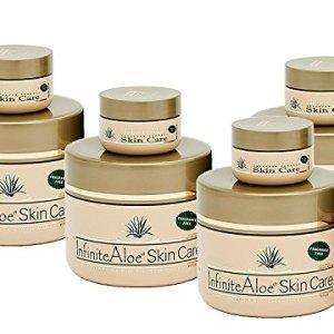 Infinite Aloe Skin Care Cream, Fragrance Free, 8oz. - 4 Jars