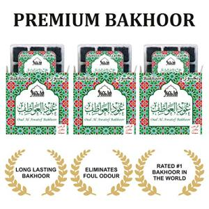 Oud Al Awatef Bakhoor - (3 Trays x 9 piece each) | For home use
