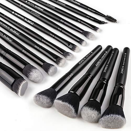 Zoreya Makeup Brushes 15Pcs Makeup Brush Set Premium Synthetic Kabuki Brush