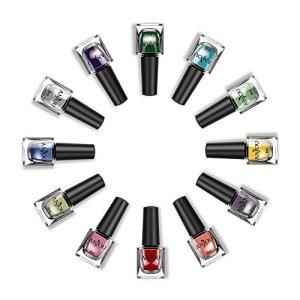 Anjou Peel Off 12 Colors Nail Polish Set, Eco-Friendly Non-Toxic Finger Nail Art Polish