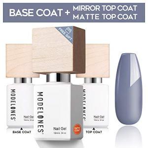 Modelones Upgraded Base Coat No Wipe Glossy Top Coat Set