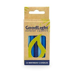 GoodLight Birthday Candles, Paraffin Free, Vegan