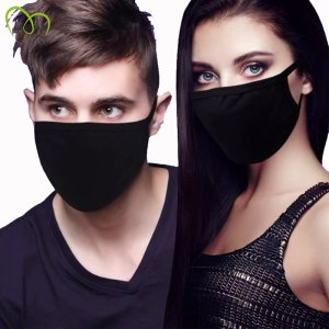 5PCS Black Cotton Masks Unisex Simple Masque Cycling Anti-dust Breathable Earloop Mouth Face Mask Warm Masks Daily Protective