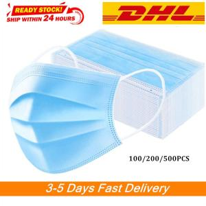 Hot Disposable Face Masks 3 Laye Mask dust protection Masks Elastic Anti-Dust Disposable Dust Filter Safety Mask in stcok