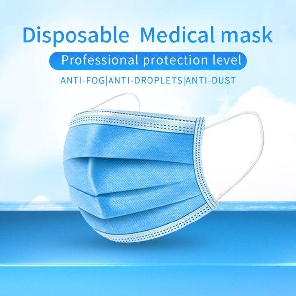 3-Layer Protective Masks Disposable Medical Mask Anti-Dust Face Masks Disposable Anti-Fog Meltblown cloth Masks Earloops Masks