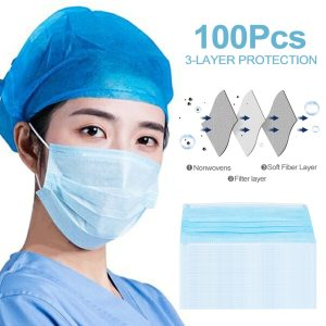 Disposable Mask Face 20pcs Anti-virus 3ply Meltblown Nonwoven