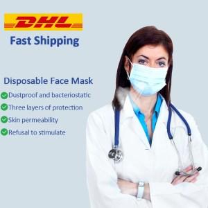1000/200/100/50pcs Face Mask Medical Surgical Face Mask Medical Masks Disposable Earloop Masks Anti Influenza Breathing Safety