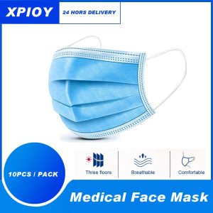 XPIOY 50/100pcs Disposable Surgical Medical Mask 3-Ply Filter Anti-dust Non-Woven Nose Proof Earhook Face Mouth Masks