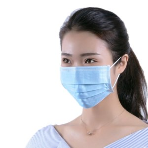 40 Pcs Medical Disposable Blue 3-Layers Non-woven Mouth Face Mask Hypoallergenic Anti-Dust Anti-bacterial Earloop Medical Mask