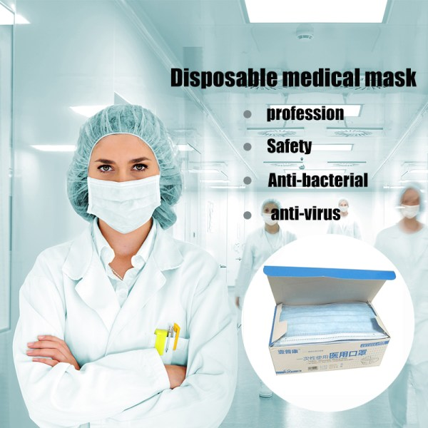 50Pc 3 Layer Disposable medical Mask Anti Dust Mouth-muffle Face Masks Men Women Anti Fog Face Mouth Mask Breathable Mouth Cover