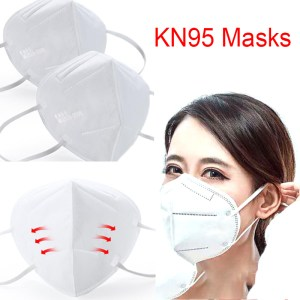 1PCS Non-woven Fabric Protective Masks Disposable Mask KN95 Face Mask Dust Particles Pollution Filter 95% Filtration