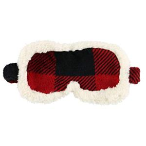 Lazy One Plush Sleep Masks for Women, Washable Cotton Eye Covers for Adults (Moose Plaid)
