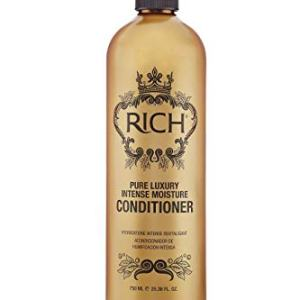 RICH Pure Luxury Intense Moisture Conditioner with Hydrolyzed Keratin for All Hair Types - Moisturizing & Smoothing, Anti-frizz, Prevents Split Ends, 25.36 Fl oz