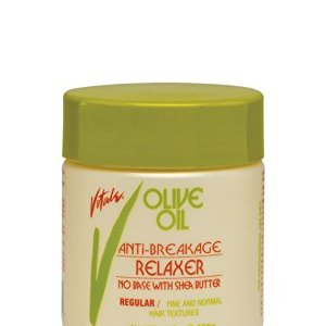 Olive Oil No Base Relaxer Regular, 20 fl oz - Anti Breakage Hair Strengthening Treatment By Vitale