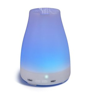 Homeweeks Diffusers, 100ml Colorful Essential Oil Diffuser with Adjustable Mist Mode,Auto Off Aroma Diffuser for Bedroom/Office/Trip