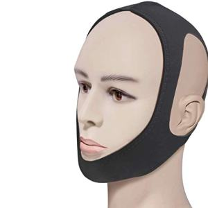 Feeke Anti Snoring Chin Strap-Effective Snoring Solution and Anti Snoring Devices - Snoring Chin Strap Stop Snoring Sleep Aid for Men and Women ]