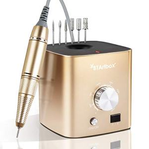 Nail Drills for Acrylic Nails - Professional Nail Drill Machine BTArtbox 30000 rpm Electric Efile Nail Drill for Gel Nails Remove Poly Nail Gel Gift for Women Home and Salon Use, Gold