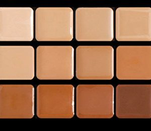 Graftobian Creme Foundation Warm Super Palette High Definition Makeup Kit – 18 Warm HD Full Coverage Pigment Concealers for Smooth, Buildable Application and Creaseless Finish
