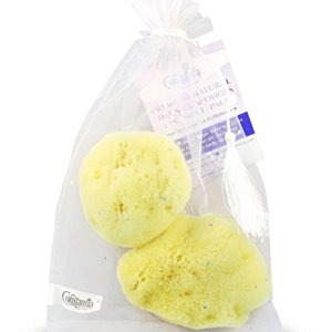 Premium Natural FINA Silk Sponges - Luxury soft on skin fine pored sea sponge from the Mediterranean, Perfect for Make up, Facial Cleansing & Bathing & Eco Friendly