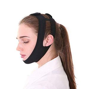 Easyinsmile Anti Snoring Chin Strap,Stop Snore Solution,Adjustable Strips Snoring Reducing Aids for Men and Women (Black)