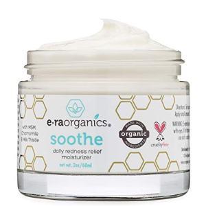 Rosacea Redness Relief Treatment Cream - Soothe Anti Inflammatory Natural Face Moisturizer For Rosacea, Eczema, Acne, Dry, Sensitive Skin Care Milk Thistle, MSM, Avocado Oil & Chamomile Era-Organics