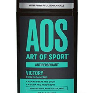 Art of Sport Men's Antiperspirant Deodorant Stick, Victory Scent, Athlete-Ready Formula with Matcha, 2.7 oz