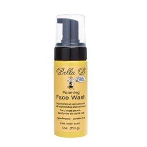 BELLA B Foaming Face Wash 4 oz - Bella B Face Wash - Organic Face Wash - Pregnancy Face Wash - Maternity Face Wash - Pregnancy Safe Acne Treatment - Acne Face Wash Pregnancy - Pregnancy Safe Face Wash