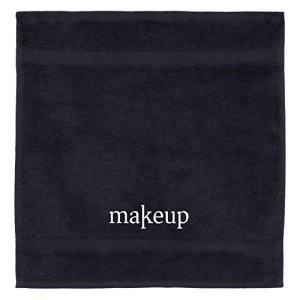 Chakir Turkish Linens 100% Turkish Cotton Luxury Hotel & Spa Make up Washcloth Set (Set of 6, Black)